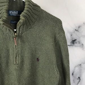 Polo by Ralph Lauren Sweaters - 🦋POLO🦋 💯 cotton half zip pullover sweater